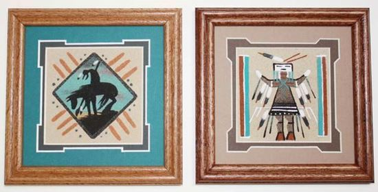 4x4 sand painting matted 6x6