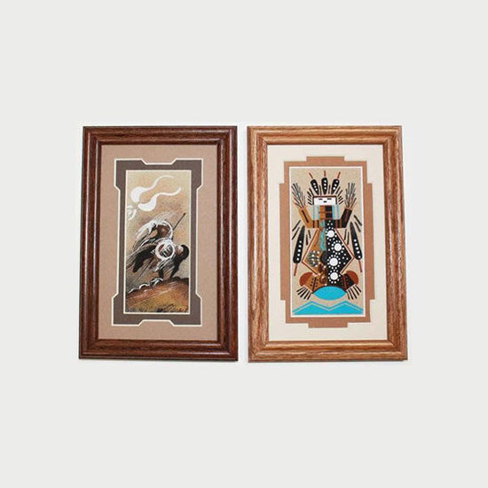 3x6 sand painting matted 5x8