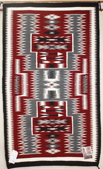 Picture of Storm pattern Navajo Rug ANC