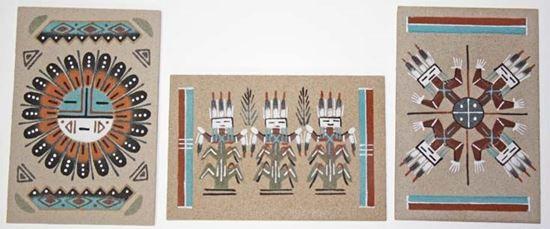 Unframed Navajo Sand Painting 4x6
