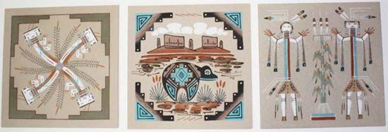 Unframed Navajo Sandpainting 8x8