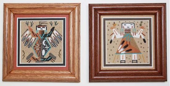 Navajo Sand Painting 3x3 matted