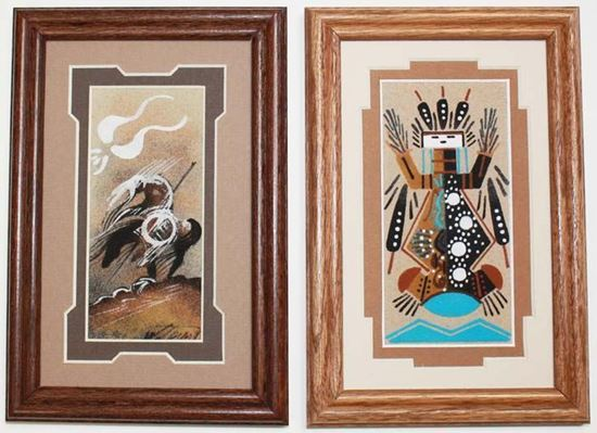 Matted 3x 6 Navajo Sand Painting