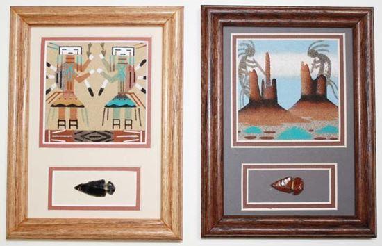 Navajo Sand Painting with Arrowhead