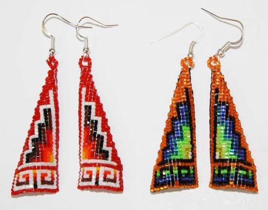 Navajo Beaded Earring 1