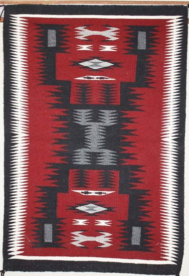 Picture of Storm pattern Navajo Rug KB
