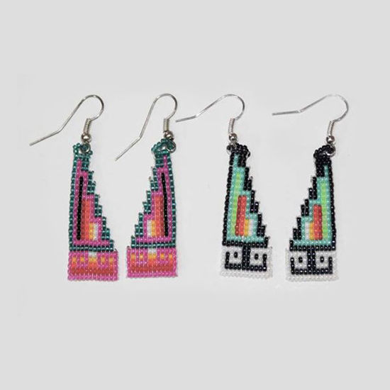 Picture of NATIVE AMERICAN NAVAJO BEADED EARRING 30 STEP