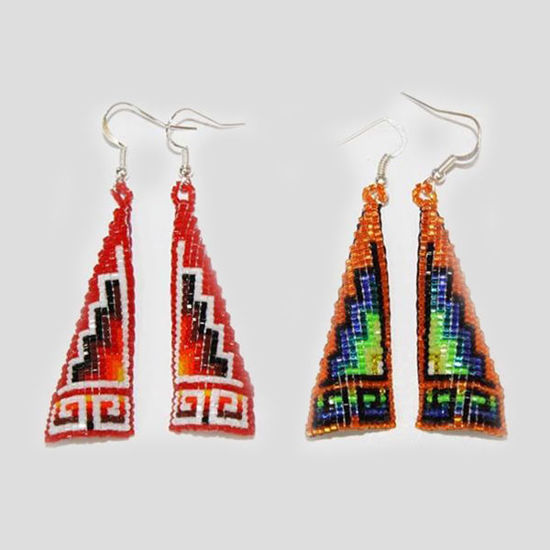 Picture of NATIVE AMERICAN NAVAJO BEADED EARRING 54T