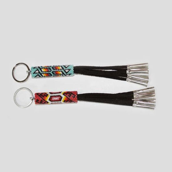 Picture of NATIVE AMERICAN NAVAJO BEADED KEY CHAIN 54