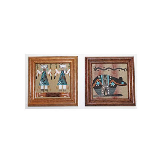 Picture of NAVAJO SAND PAINTING 4X4 FR