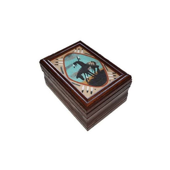 Picture of NAVAJO SAND PAINTING BOX 46