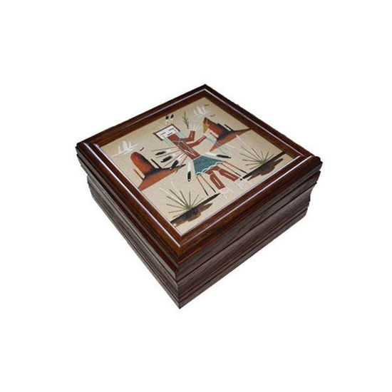 Picture of NAVAJO SAND PAINTING BOX 66