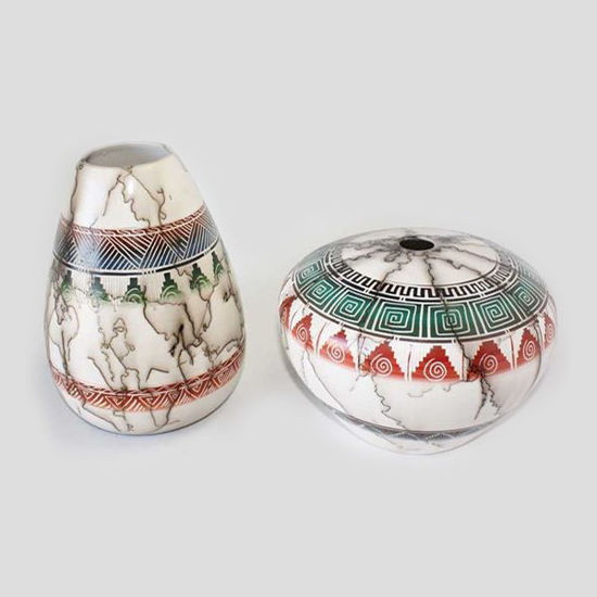 Picture of NAVAJO HORSE HAIR COLORED POTTERY 120