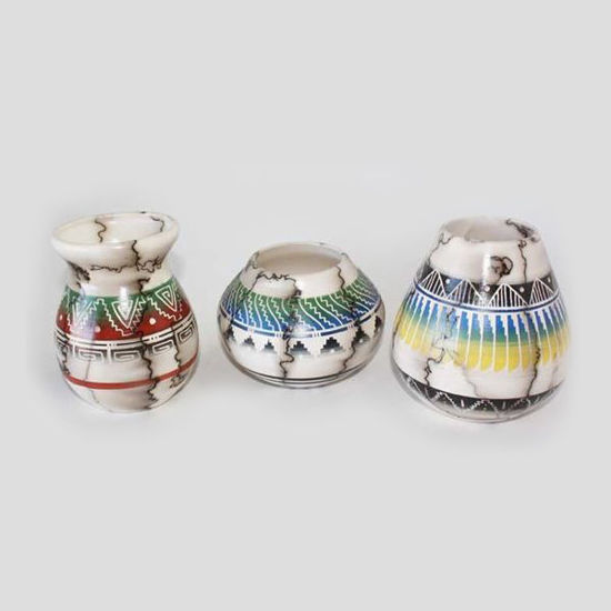 Picture of NAVAJO HORSE HAIR COLORED POTTERY 045