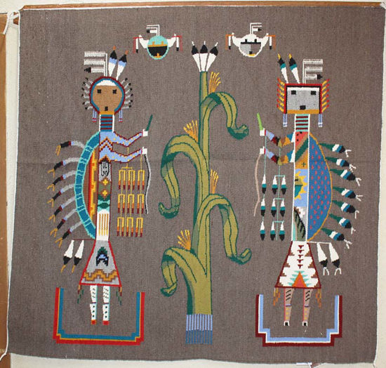 Picture of Navajo Sand Painting Rug ARN
